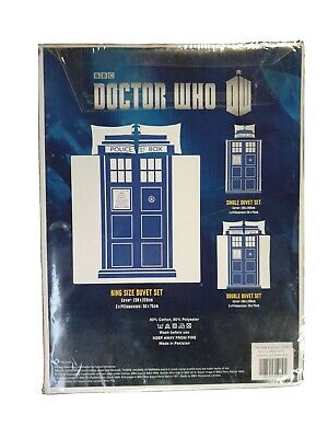 £13.99 • Buy Official Dr Doctor Who Tardis King Size Bedding Bed Duvet Cover Set Bnwt