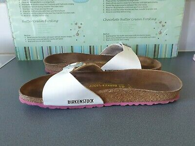 White Patent Narrow Fit Madrid Birkenstock Size Uk 7.5  41 • 35£