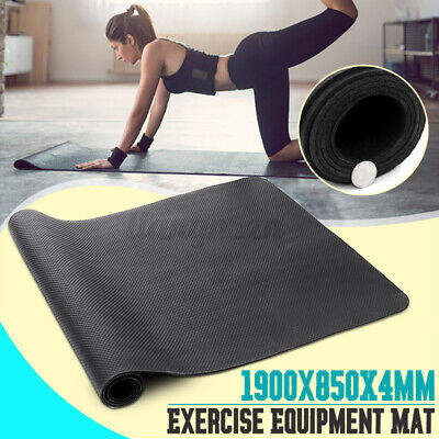 AU29.69 • Buy Exercise Mat Sports Gym Yoga Equipment Go Fit Protect Cover For Treadm
