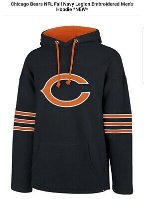 $64.99 • Buy 🏈🐻chicago Bears Nfl 47 Brand Fall Navy Legion Embroidered Men's Xl Hoodie 🏈🐻