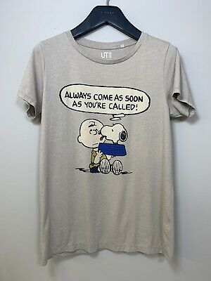 £14.99 • Buy Uniqlo Peanuts Grey T-Shirt Large Snoopy Charlie Brown