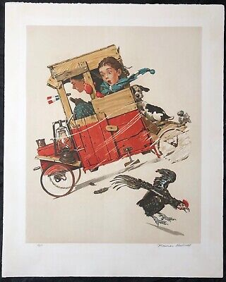 $ CDN3636.31 • Buy Norman Rockwell,  Downhill Racer  Signed Limited Edition