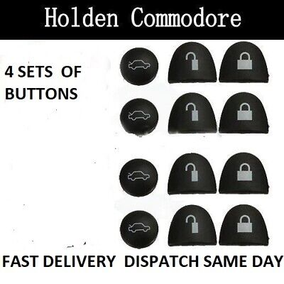 AU10 • Buy 4 Sets Key Buttons Remote Repair For Holden Commodore VS VT VX VY VZ WH WK WL
