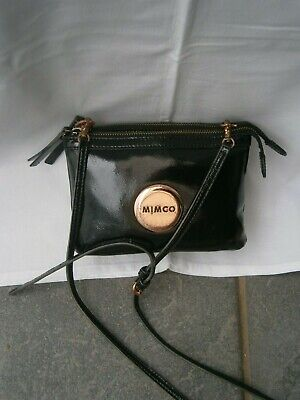 AU51 • Buy Mimco Secret Couch Hip Crossbody Leather/patent Leather Black Bag.po#1950827