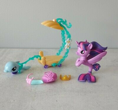 My Little Pony Twilight Sparkle Mermaid Seaquestria Playset Dolphin Carriage • 8.48£