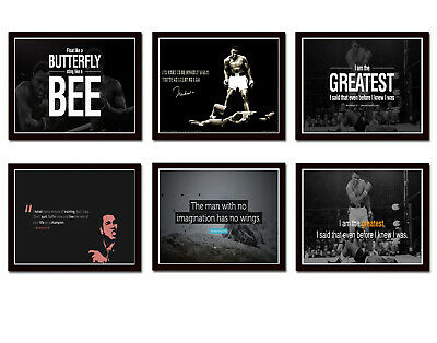 £4.89 • Buy Motivational Quote Muhammad Ali Boxing Sport Print Poster Wall Art Picture A4 +