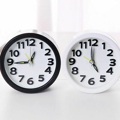 AU14.24 • Buy Silent Quartz Alarm Small Clock Battery Operated Bedside Room Snooze Wake Up