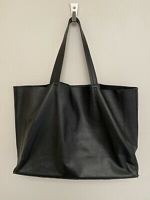 AU52.29 • Buy Weekend By John Lewis Black Leather Shopper Bag