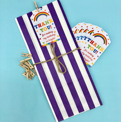 £7.50 • Buy 10-15 Rainbow Party Bags*Loot Bags*Goodie Bags*Rainbow Themed Parties*Gifts*