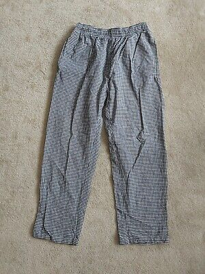 Chef Cook Trousers Check Black White Size M Medium Short  • 5£