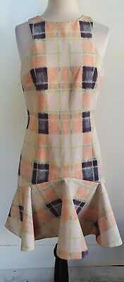 AU48 • Buy FINDERS KEEPERS Ivory/Apricot Check Dress Size M