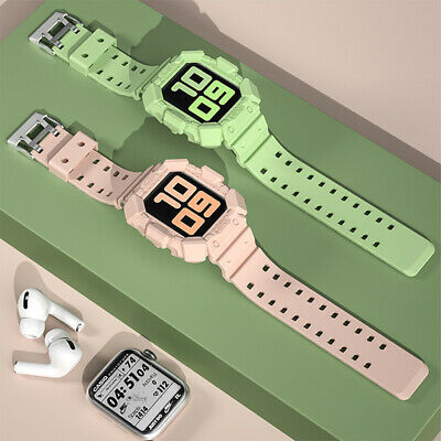 AU2.99 • Buy Apple Watch Band Silicone Strap+Case IWatch Series SE 6 5 4 3 2 38/40mm 42/44mm