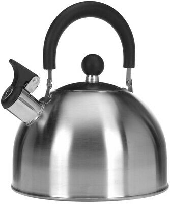 £11.99 • Buy 2.5 Litre Stainless Steel Whistling Kettle Stove Top Hob Camping Travel Teapot
