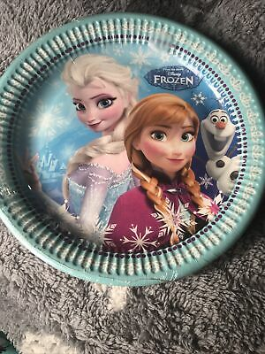Pack Of 8 Frozen Party Plates (brand New) • 0.50£