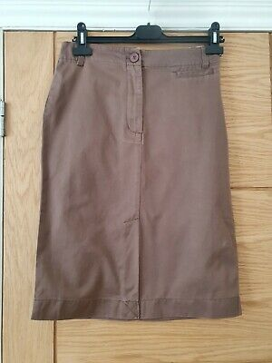 £17.99 • Buy Boden Size 10R Brown Chino Skirt-wg129