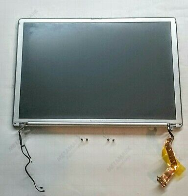 APPLE POWERBOOK G4 A1138 15  Complete LCD Screen Assembly Matt In Good Condition • 32.99£