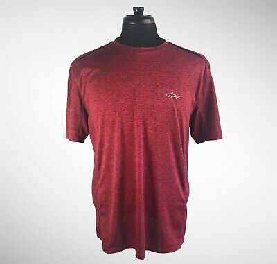 $19.99 • Buy Greg Norman Candy Apple Red Crew-Neck Short-Sleeve Casual T-Shirt Size Large