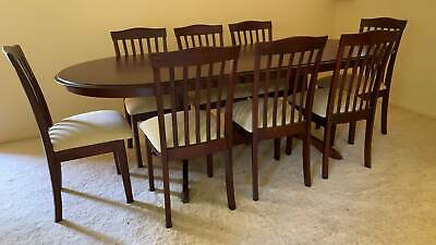 AU1500 • Buy 9-piece Dining Table And Chairs - New - Extendable Table