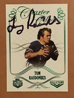 AU85 • Buy Tommy Raudonikis Signed 2018 Charter Special Edition Card Has Its Own C.o.a