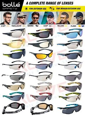 £9.99 • Buy Bolle Safety Glasses Sporty Spectacles Tinted Smoke Grey Lens UV Protection PPE