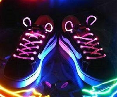 £4.99 • Buy Light Up LED Trainers Shoe Shoelaces Magically Flashing Waterproof Bag Backpack