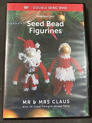 Jewellery Maker Instructional DVD: Mr & Mrs Clause Seed Bead Figurines • 8.95£