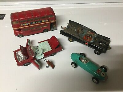 $ CDN25.09 • Buy Corgi Toys -  Lot Of 4 Batmobile,double Decker Bus,b.r.m,chrysler Imperial
