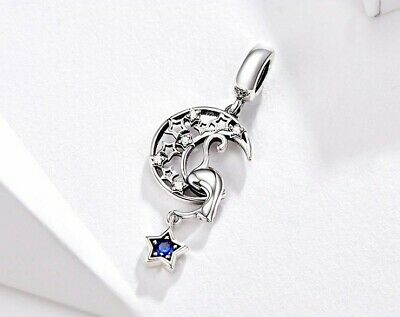 AU27 • Buy Dream Catcher Moon & Stars S925 Sterling Silver Charm Pendant By Charm Heaven