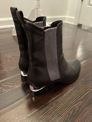 AU163.99 • Buy Alexander Wang Black Leather Boots Cut Out Heel, Sz 39