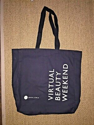AU1.79 • Buy John Lewis Black Beauty Weekend Canvas Tote Shopping Bag - New
