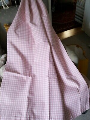 £15 • Buy DUNELM Pink Gingham Pencil Pleat Curtains Bonded Linings W 65  X L 53