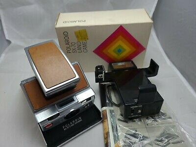 AU256.63 • Buy Polaroid SX-70  Instant Land Camera Boxed With Everything Clean ++ Flash Unit