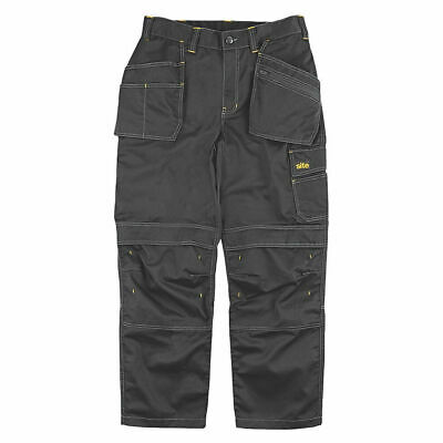 £9.95 • Buy New Mens Site Fox Holster Pocket Work Cargo Trousers 30w X 32l Pockets Black