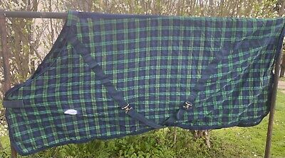 Fal Pro Summer Sheet Stable Sheet  Rug - 6 ' 3 Navy Check  - Old Stock Sale   S • 19.99£