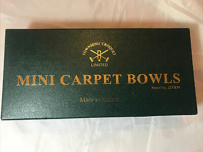 Townsend Croquet Limited Set Of Indoor Carpet Bowls • 5.99£