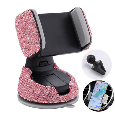 £5.75 • Buy Car Phone Holder Portable Faux Diamond-Studded Car Air Outlet Navigation Stand