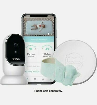 $ CDN302.49 • Buy Owlet Baby Security Monitor Sound Duo: Smart Sock 2 Plus HD Video Baby Monitor