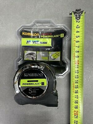 Komelon Powerblade Ⅱ Magnetic  Metric Only Tape Measure 5m X 27mm  MPT57E-M  • 15.99£