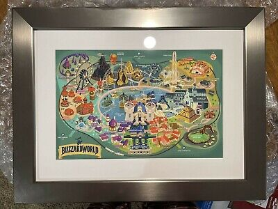 AU128.71 • Buy Blizzard World Overwatch Art Print - BlizzCon 2017 Framed