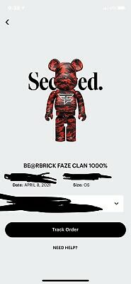 $900 • Buy Faze Clan Bear Brick 1000% Xl— Order Confirmed Ships On Delivery Sold Out