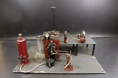 Stationary Live Steam Engine/Plant, Red With Single Cylinder • 449.99£