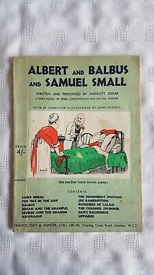 Albert And Balbus And Samuel Small By Marriott Edgar. Paperback 1950s • 2.25£