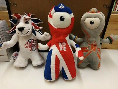 London Olympic Games 2012 Trio - Wenlocks And Pride The Lion - Toy Teddy Mascot  • 1.99£