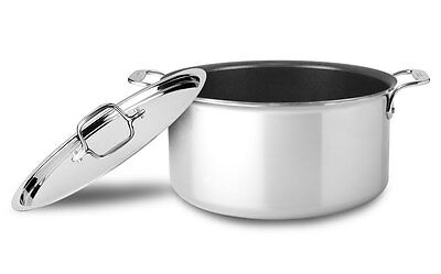 $ CDN187.46 • Buy All-Clad 8-Qt Tri-Ply  NON-STICK SS Bonded Dishwasher Safe Stock Pot With Lid