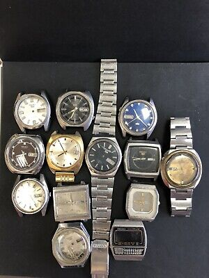 $ CDN500.03 • Buy A Lot Of 13 Watches Vintage SEIKO  Automatic   For Repair Or As Parts R15
