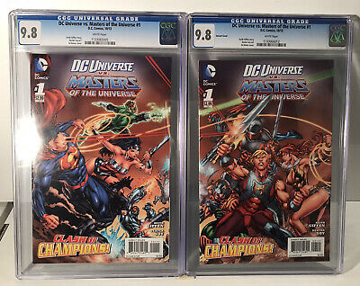 $125 • Buy DC Universe Vs. Masters Of The Universe #1 LOT - 10/13 Connecting Variant Covers