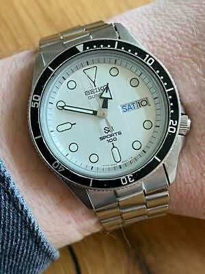 $ CDN6.90 • Buy Vintage Watch Seiko 8229-602B SQ Sports 100 Diver Very Rare !!! VG Condition