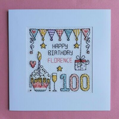 £9.99 • Buy Happy 100th Birthday Cross Stitch Card Kit