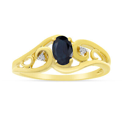 AU806 • Buy 14k Yellow Gold Oval Sapphire And Diamond Ring