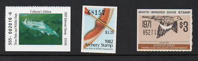 AU10.95 • Buy USA Texas Parks And Wildlife Department Labels/Stamps